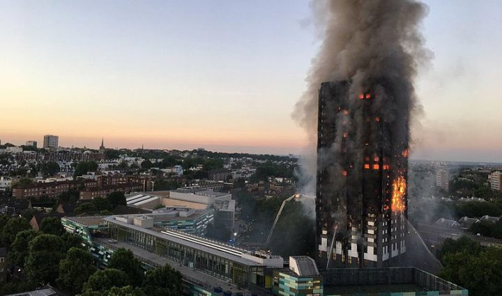 'Grenfell Tower cladding replaced with flammable aluminum panels'