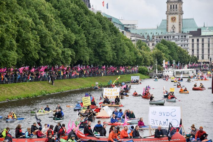 """G20 di Amburgo, Greenpeace: «Il """"G19"""" isola Trump sul clima, ma ora si acceleri transizione verso rinnovabili»"""