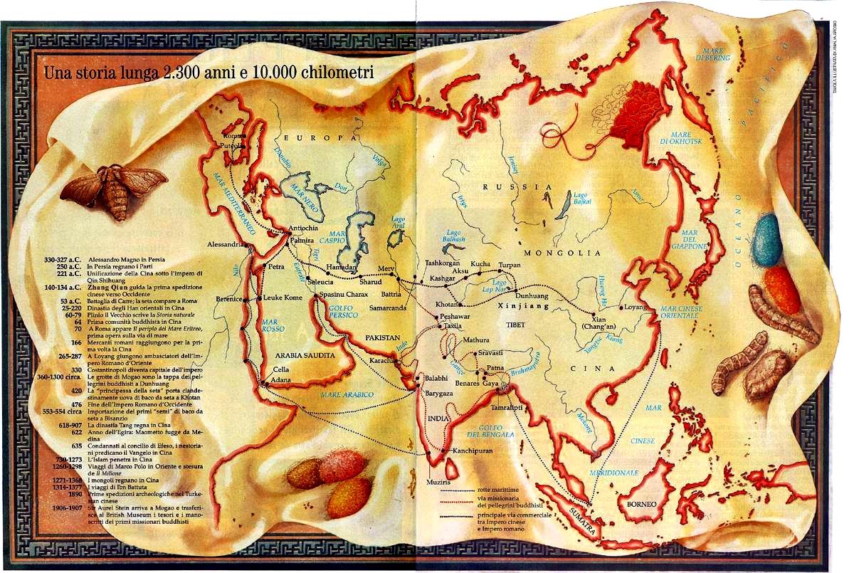 La Via della Seta, un modello che si ripete nel tempo