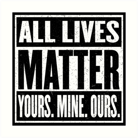 Not Just Black or Muslim, ALL Lives Matter!