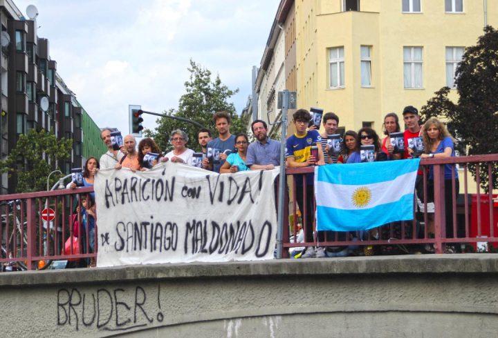 Wo ist Santiago Maldonado? Demonstrationen in vielen Ländern der Welt