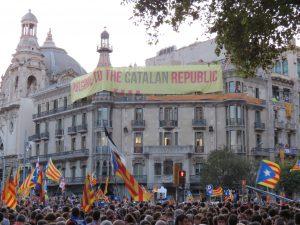 Concentracions massives a Catalunya a favor del dret a decidir