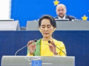 Discorso di Aung San Suu Kyi sulla situazione in Myanmar