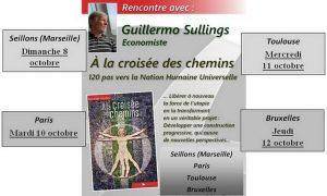 El libro de Guillermo Sullings «Encrucijada y Futuro del Ser Humano» se presentará en Francia y Bélgica