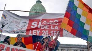 Fruto de la lucha: media sancióna la prórroga de la Ley 26.160
