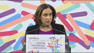 Ada Colau asks the EU for help to mediate the conflict between the governments of Catalonia and Spain