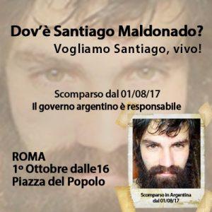 ¿Dónde está Santiago Maldonado? Manifestación en Roma