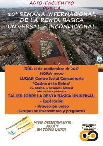 X Semana Internacional por una Renta Básica Universal e Incondicional: vivir decentemente