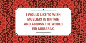Jeremy Corbyn wishes Eid Mubarak to the Muslims