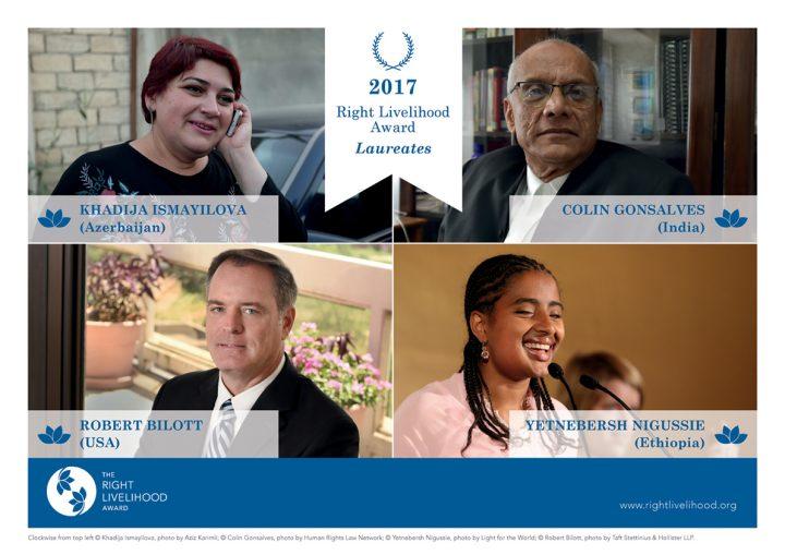 Right Livelihood Awards 2017 ehren mutige Vorkämpfer für Gerechtigkeit und sozialen Wandel