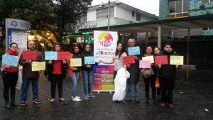Performance contra el femicidio en Ecuador