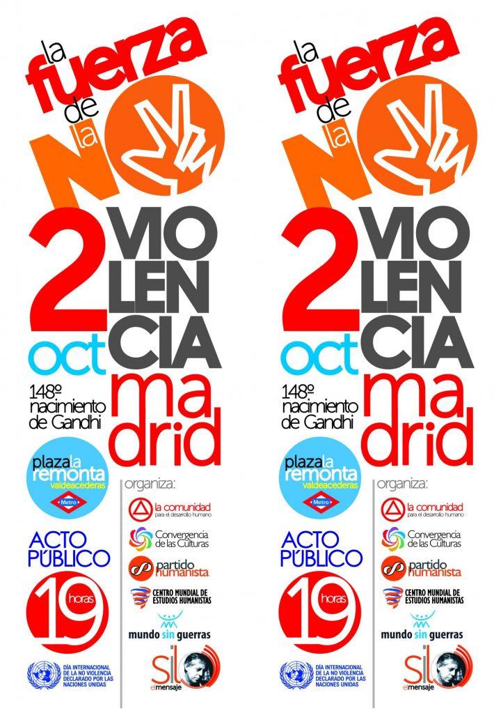 Celebración en Madrid del Día Internacional de la No Violencia