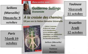 """Le livre """"A la croisée des chemins"""" de Guillermo Sullings sera présenté en France et en Belgique"""