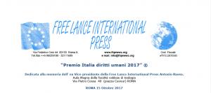 Free Lance International Press: Premio Italia diritti umani 2017