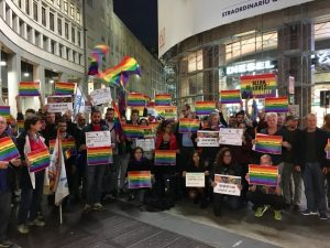 In Milan, a Demonstration of Solidarity with LGBTQAI persecuted in Egypt