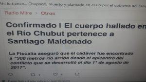 Santiago Maldonado: encuentran cuerpo en Cushamen