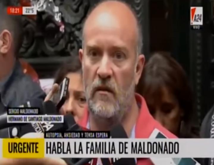 """Sergio Maldonado: «Es Santiago, lo reconocimos por los tatuajes"""""""