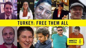 Celebrità a sostegno della richiesta di rilascio dei difensori dei diritti umani in carcere da 100 giorni in Turchia
