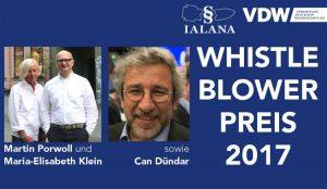 Verleihung von Whistleblower-Preis für Can Dündar, ehemaliger Chefredakteur von Cumhüriyet