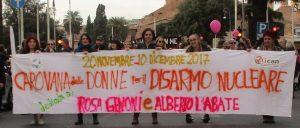 25 Novembre: la Carovana delle Donne per il Disarmo Nucleare a Roma