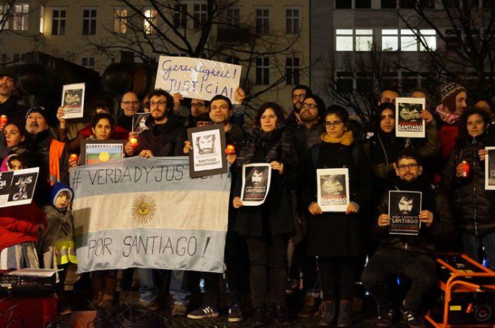 Homenaje en Berlín a Santiago Maldonado