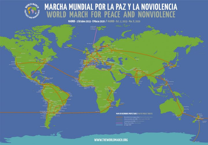 The 2nd World March for Peace and Nonviolence to start in 2019