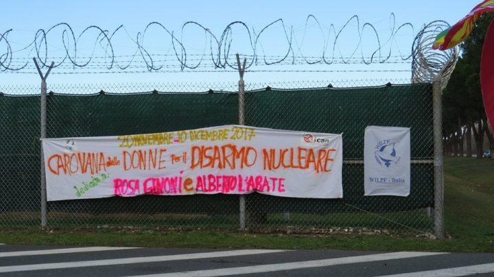 La Carovana delle Donne per il Disarmo Nucleare si oppone all'ampliamento di Camp Darby
