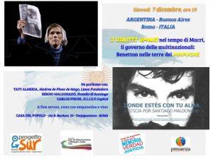 Argentina, Roma: i diritti umani nel tempo di Macri