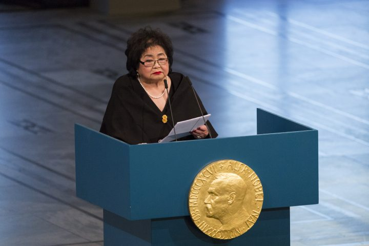 Nobel lecture: Nuclear weapons signify not a country's elevation to greatness, but its descent to the darkest depths of depravity