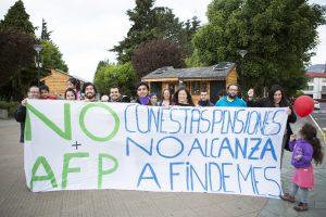 Chile, ofertones y elecciones: Movilización No+AFP en Coyhaique