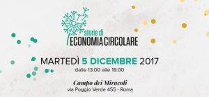 """Roma, 5 dicembre: lancio del progetto """"Storie di economia circolare"""""""