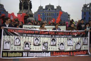 Manifesto contra o indulto do ex-ditador Alberto Fujimori