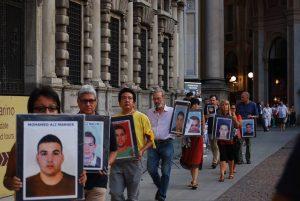 Marcia per i Nuovi Desaparecidos a Milano