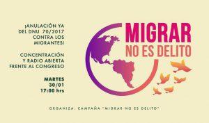 ¡Migrar no es delito! No al DNU 70 /2017