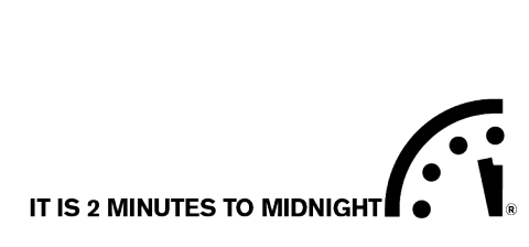 It is now 2 minutes to midnight!