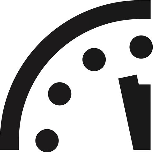 120 secondi:  2 minuti, ecco quanto manca oggi all'ora del giudizio