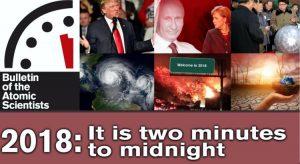 Weltuntergangs-Uhr steht auf zwei Minuten vor Zwölf