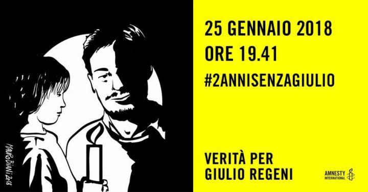 25 gennaio, fiaccolate in tutta Italia per Giulio Regeni