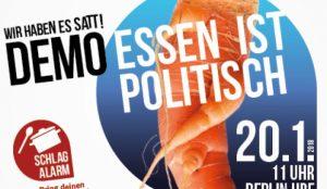 """Negative Auswirkungen der industriellen Landwirtschaft alarmierend: """"Wir haben es satt!"""" Demo am 20.01. in Berlin"""