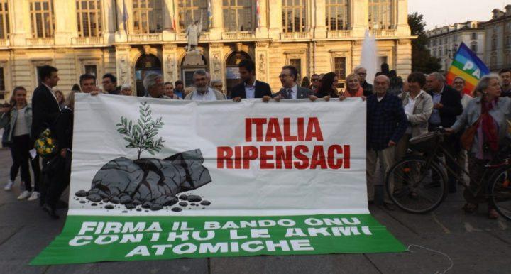 ITALIA RIPENSACI: ratifica il bando ONU alle armi atomiche. Campagna #TiVotoSoloSe