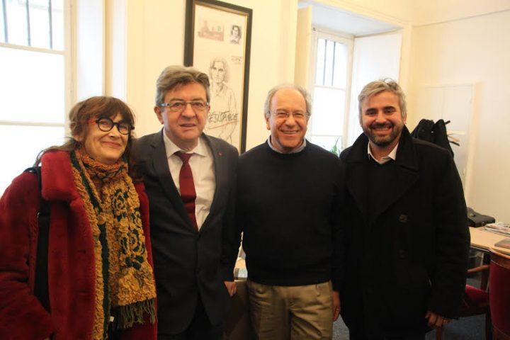 Parigi, Tomás Hirsch incontra Jean-Luc Mélenchon, Alexis Corbière e Sabine Rubin