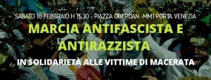 Marcia antifascista e antirazzista a Milano