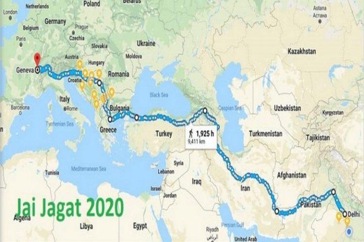 Convergence de la Marche Mondiale et de la Marche Jai Jagat