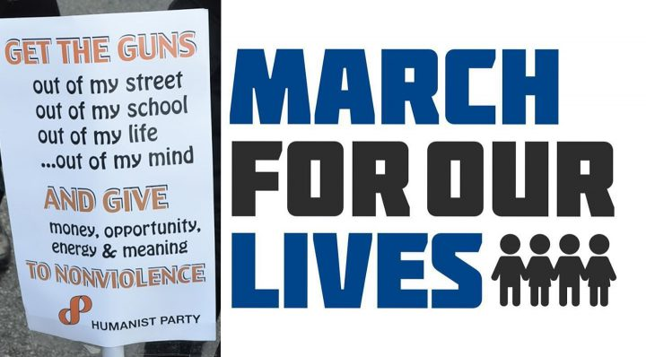 The Humanists are Supporting Students and the March For Our Lives