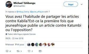 Tweet contro Jeune Africa