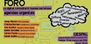 Lo digital comunitario: «Nuevas narrativas, agendas urgentes»
