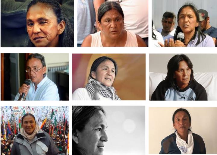 Milagro Sala protesta per  l'aumento delle tariffe sanitarie in Argentina