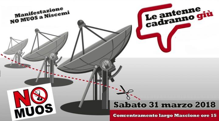 Niscemi, NO MUOS:  manifestazione 31 marzo 2018