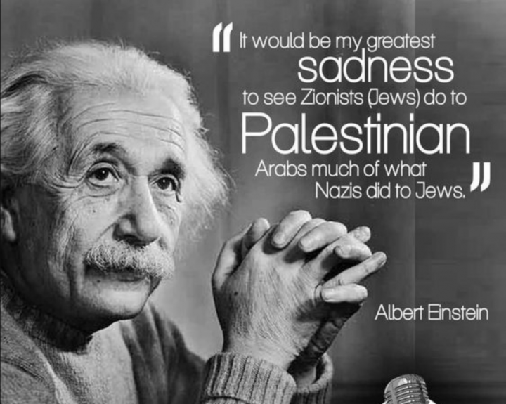 Albert Einstein: Israel Freedom Party closely akin to Nazi-Fascism