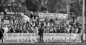Manifestaciones por la vida del Machi Celestino Córdova frente a indolencia del Gobierno de Piñera